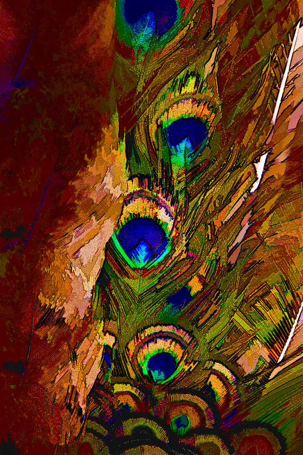 Abstract Peacock Digital Art  - Abstract Peacock Fine Art Print