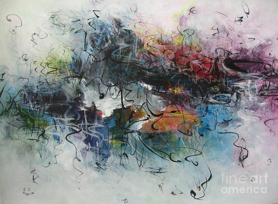 Abstract Seascape00117 Painting