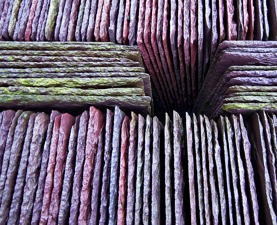 Abstract Slate Pile Photograph