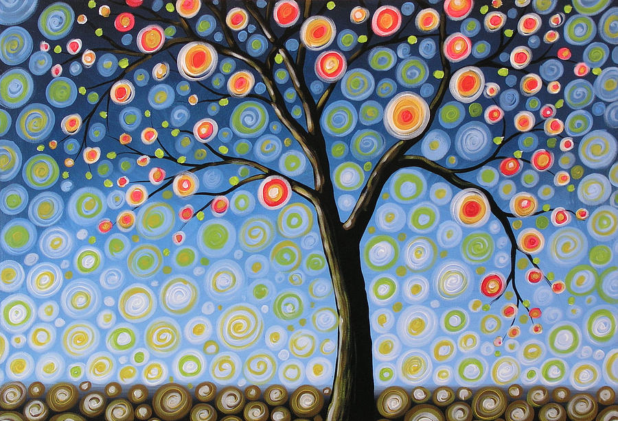 Abstract Tree Midnight Tree Amy Giacomelli
