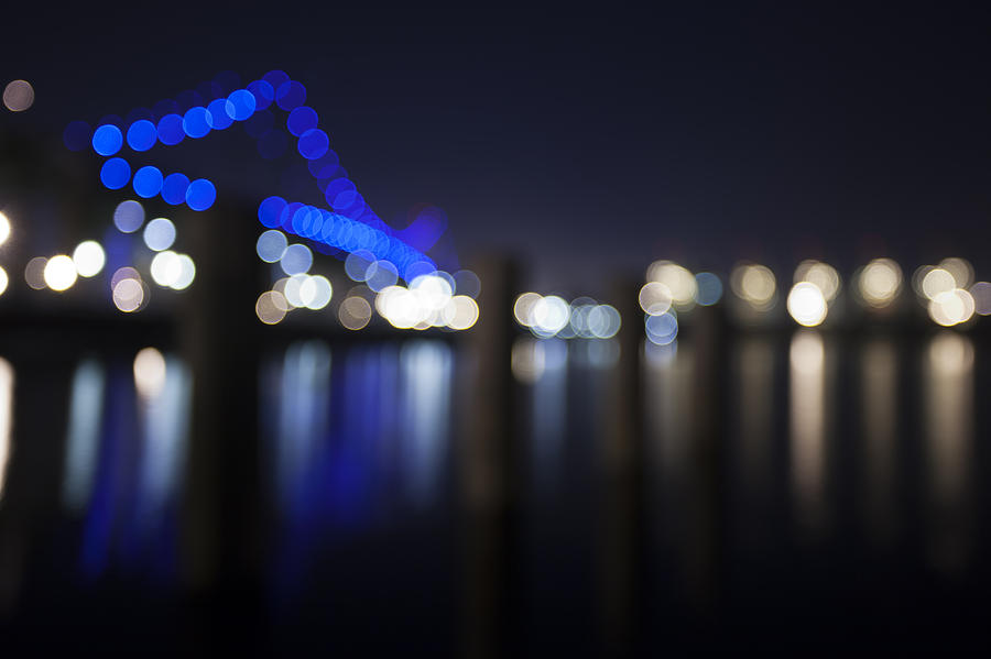 Background Photograph - Abstract Vincent Thomas Bridge by Mike Raabe