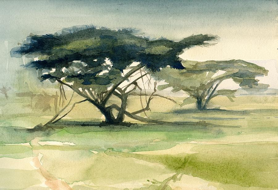 Landscape Painting - Acacia by Stephanie Aarons
