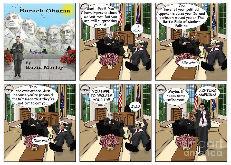 Barack  Obama Digital Art - Achtung Amerika by Kevin  Marley