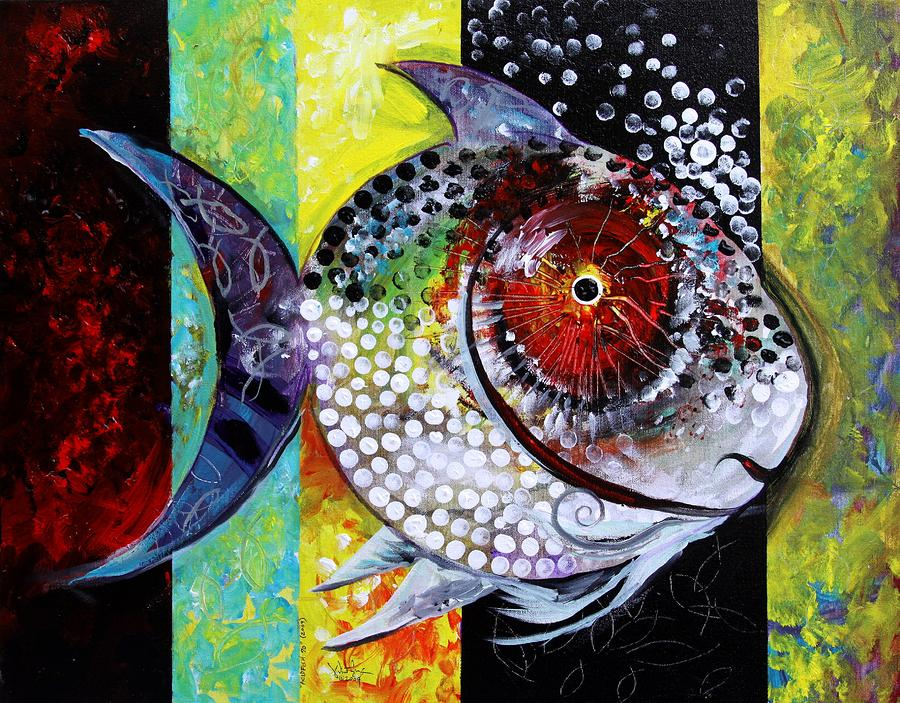 Acidfish 70 Painting  - Acidfish 70 Fine Art Print
