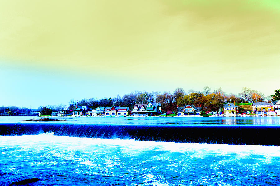 Across The Dam To Boathouse Row. Photograph  - Across The Dam To Boathouse Row. Fine Art Print