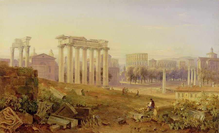 Across The Forum - Rome Photograph