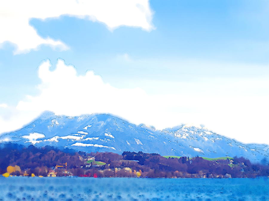 Across The Lake  Photograph