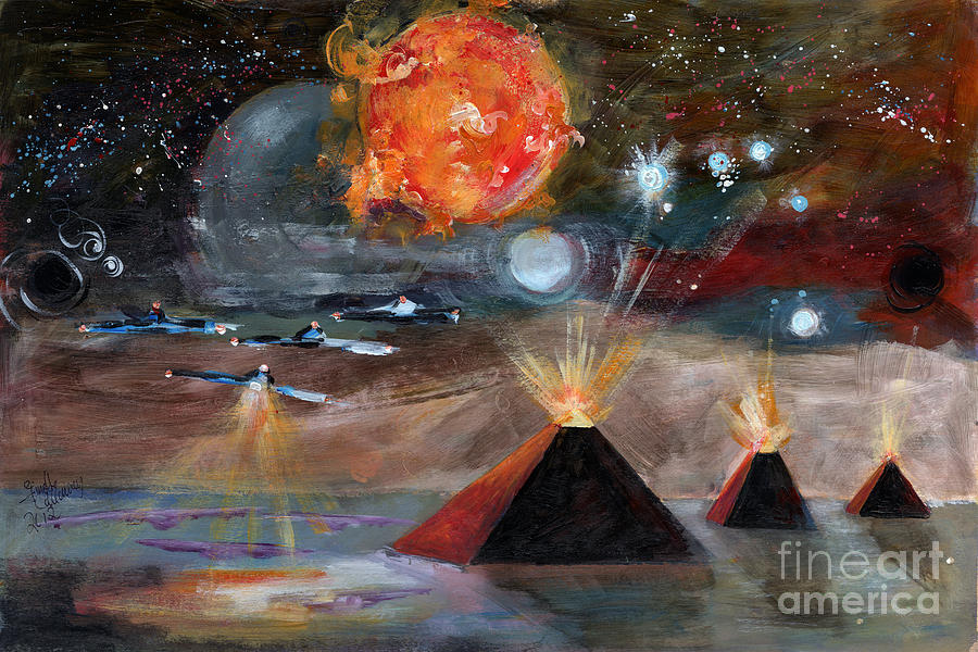 Activation Painting  - Activation Fine Art Print