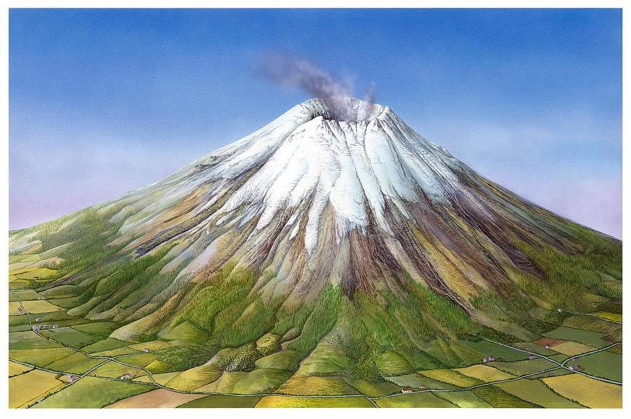 Active Stratovolcano Photograph by Gary Hincks