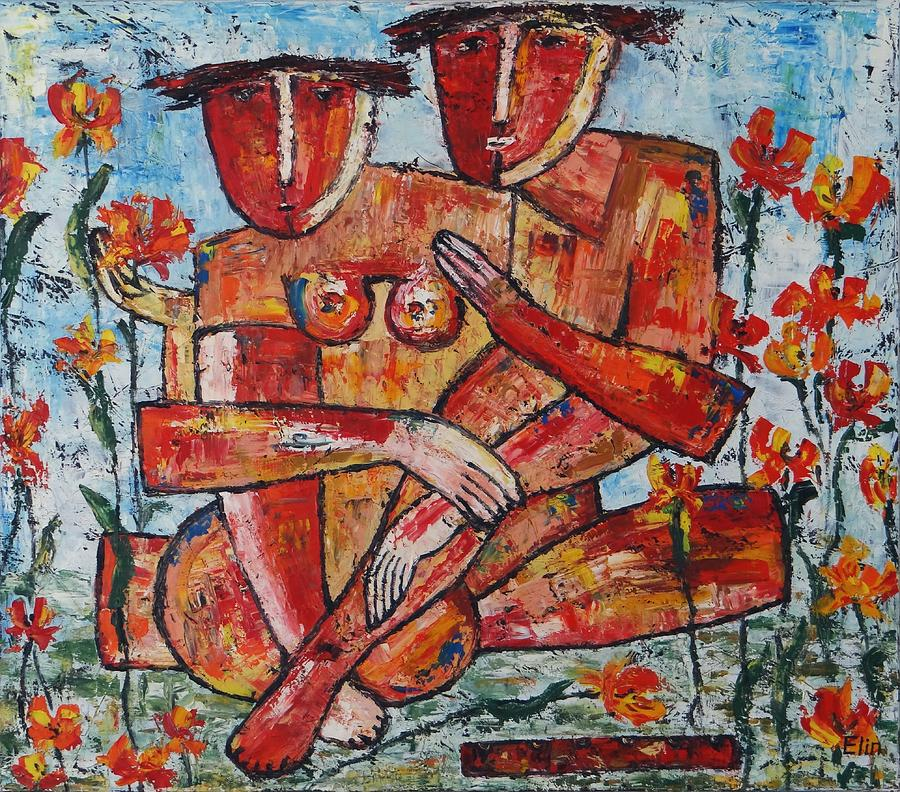 Adam and eve by elin bogomolnik for Modern art paintings for sale