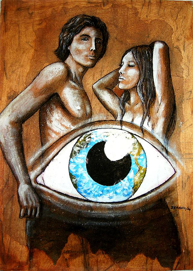 Adam And Eve In Promotional Campaign Painting