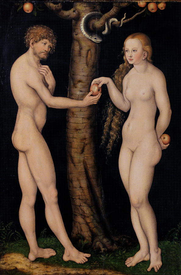 Adam And Eve In The Garden Of Eden Painting  - Adam And Eve In The Garden Of Eden Fine Art Print