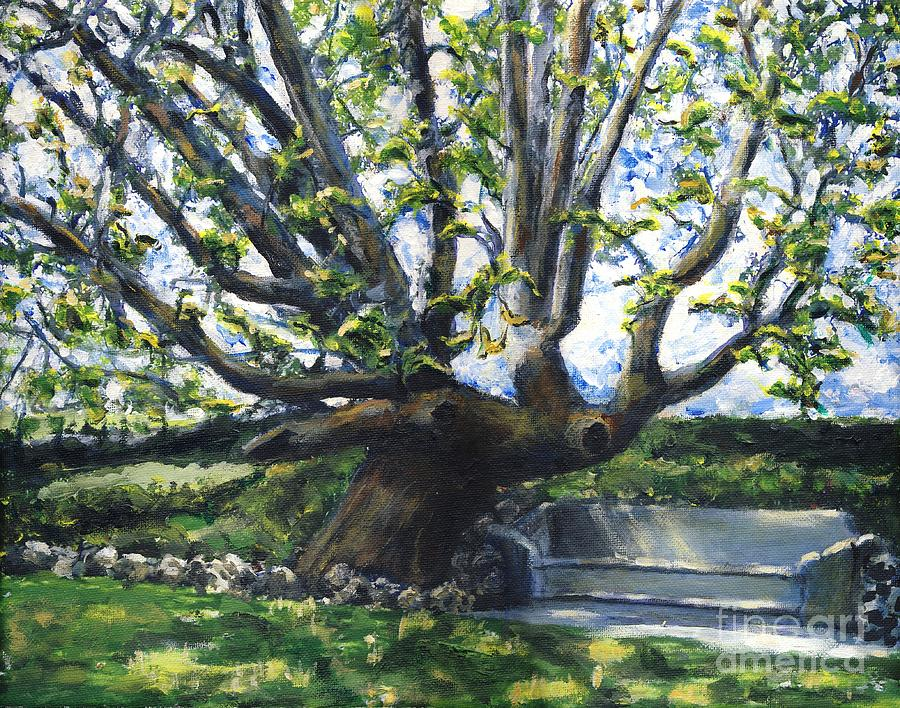 Adamson Home Tree Painting  - Adamson Home Tree Fine Art Print