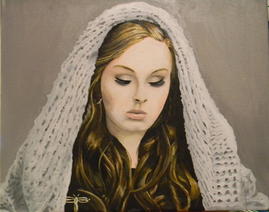 Adele-singer Song Writer Painting - Adele by Eric Barich