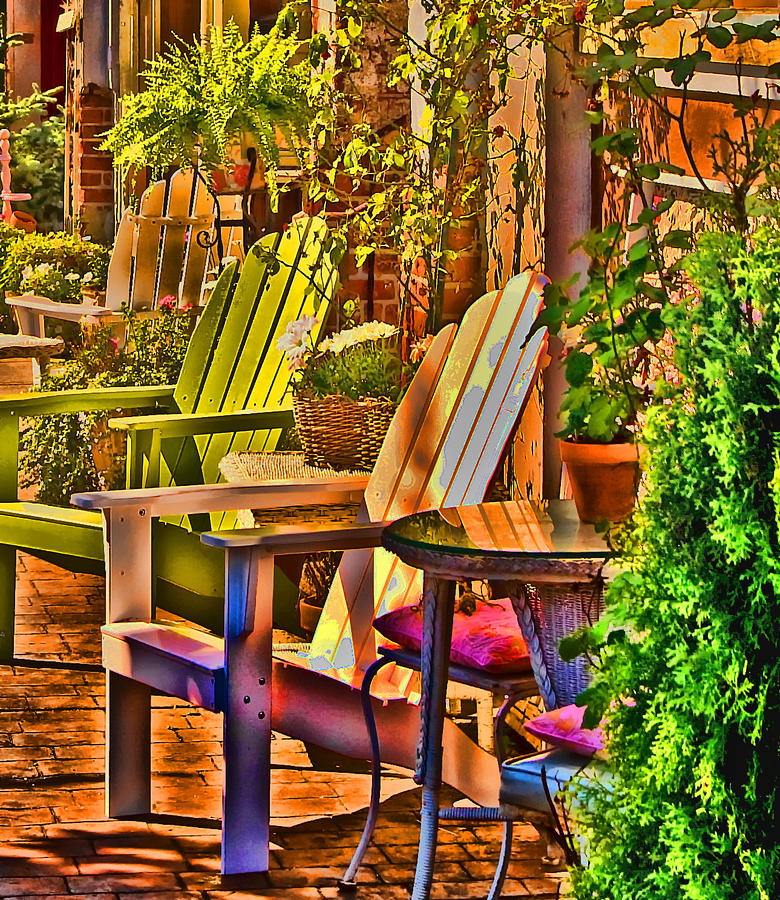 Adirondack Chairs Digital Art
