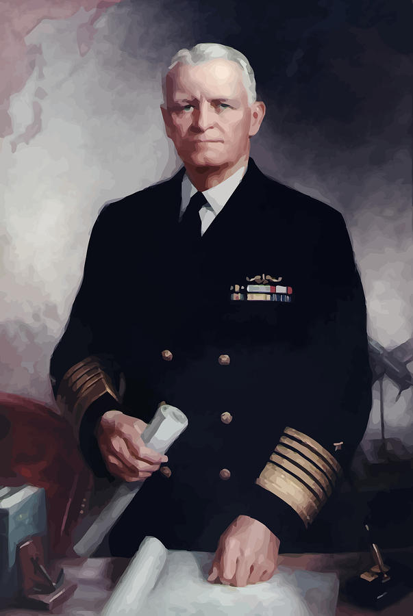 Admiral Chester Nimitz Painting