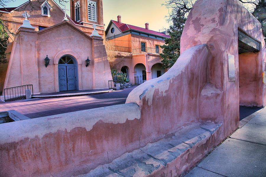 Adobe Wall And Felipe De Neri Church Photograph
