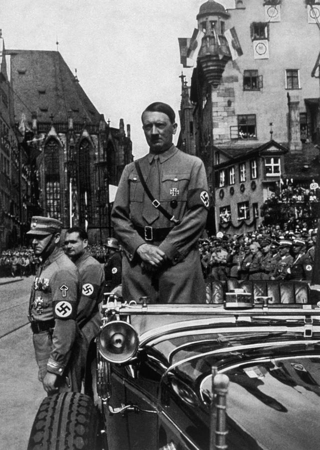 Adolf Hitler At Parteitag Der Freiheit Photograph  - Adolf Hitler At Parteitag Der Freiheit Fine Art Print