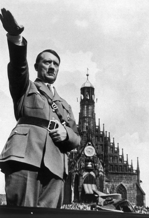 Adolf Hitler At Reichsparteitag, 1934 Photograph  - Adolf Hitler At Reichsparteitag, 1934 Fine Art Print