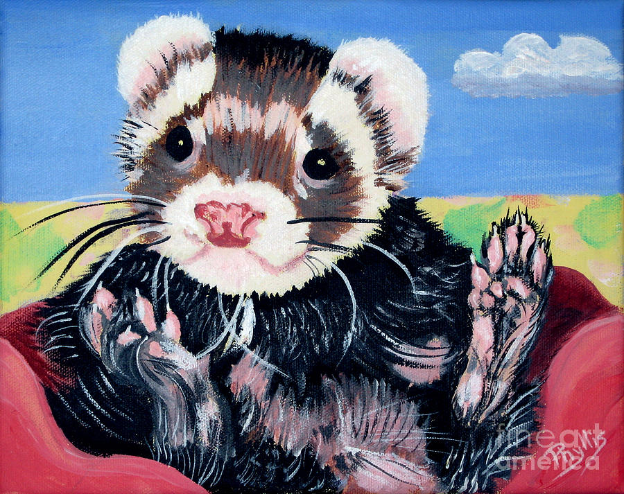 Adorable Ferret Painting