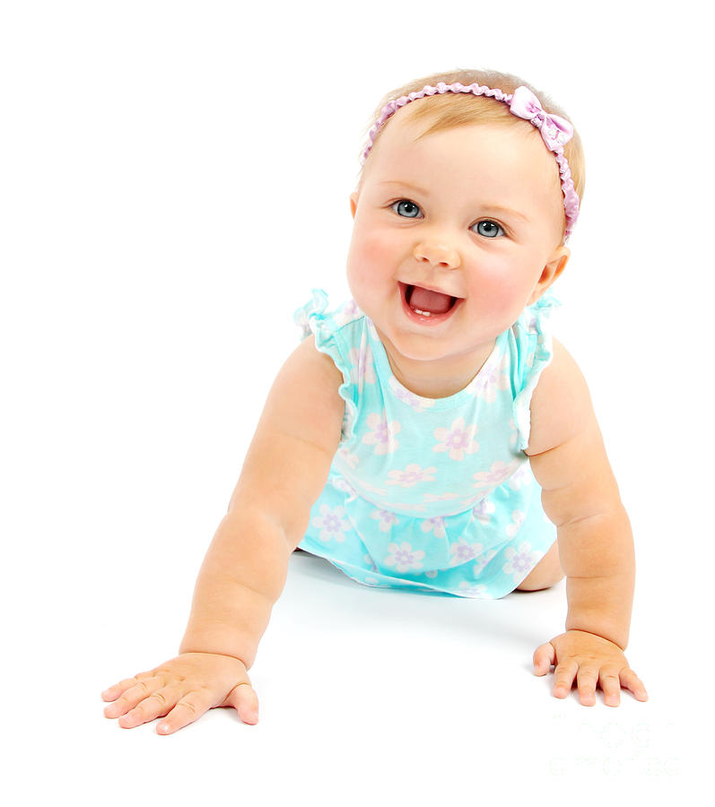 Adorable Little Baby Girl Laughing Photograph by Anna ...