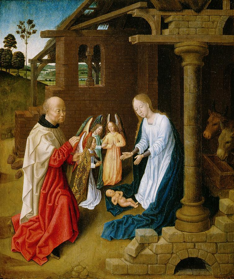 Adoration Of The Christ Child  Painting  - Adoration Of The Christ Child  Fine Art Print