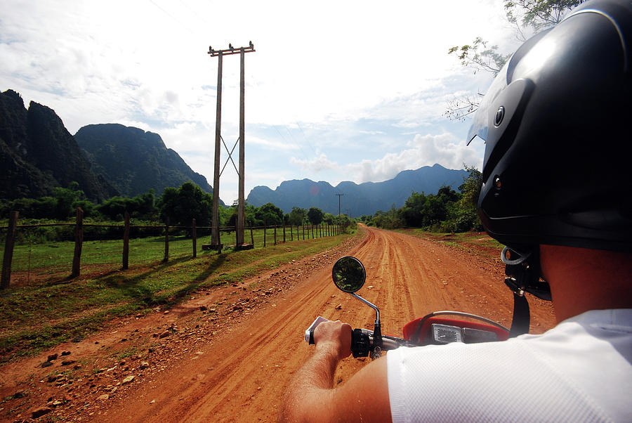 Adventure Motorbike Trip In Laos Photograph