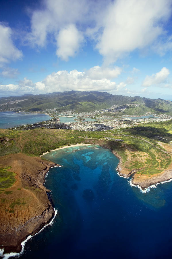 Aerial Of Hanauma Bay Photograph  - Aerial Of Hanauma Bay Fine Art Print