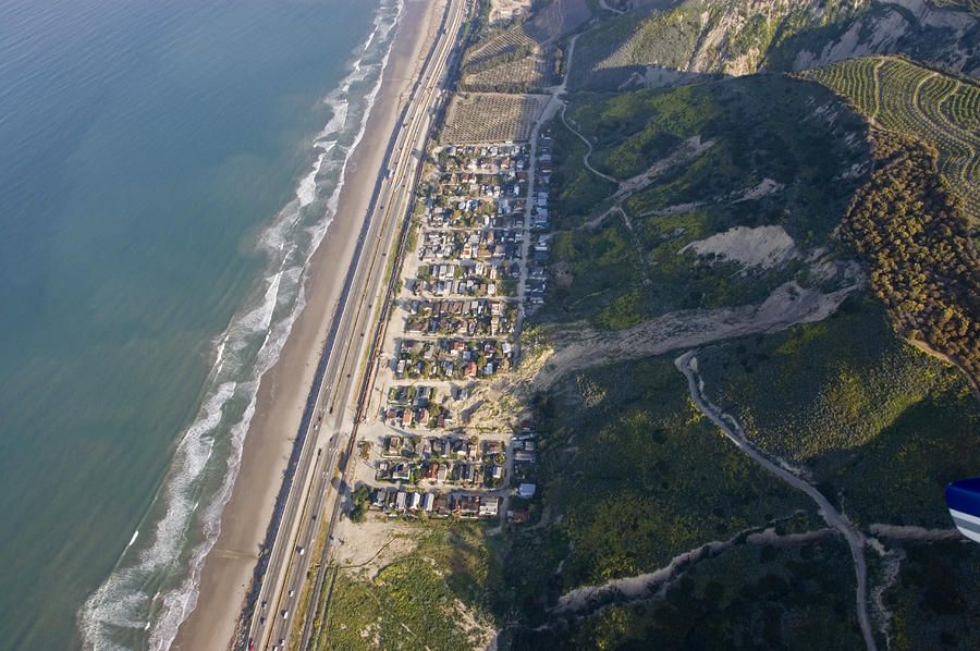 Aerial Of La Conchita Mudslide That Photograph  - Aerial Of La Conchita Mudslide That Fine Art Print