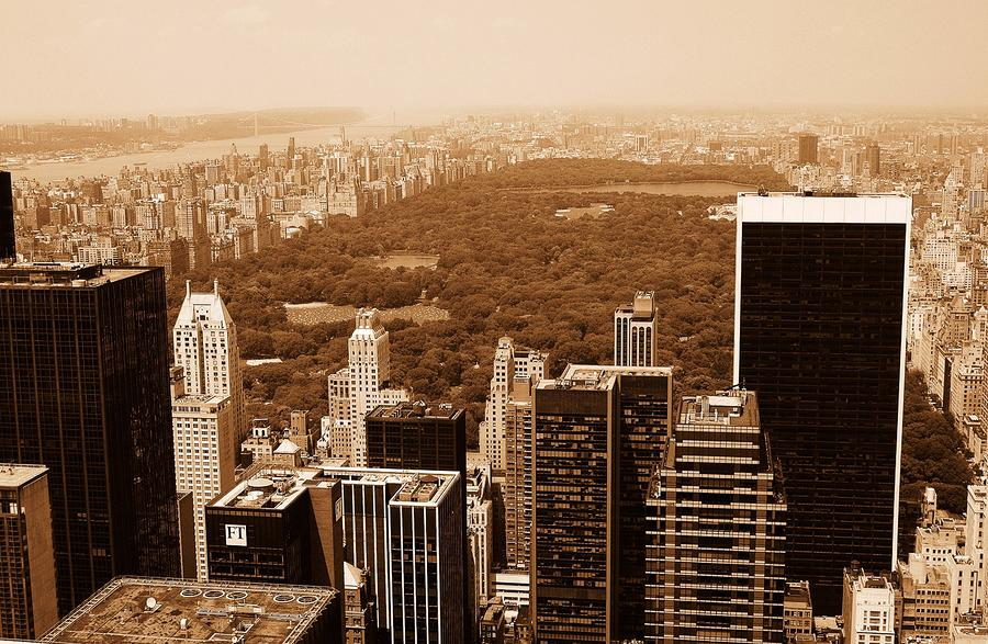 Aerial View Central Park Photograph  - Aerial View Central Park Fine Art Print