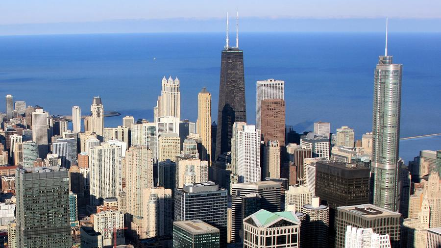 Aerial View Of Chicago Photograph