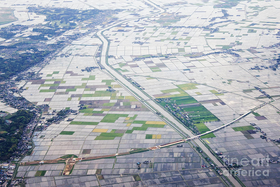 Aerial View Of Flooded Farmland Photograph