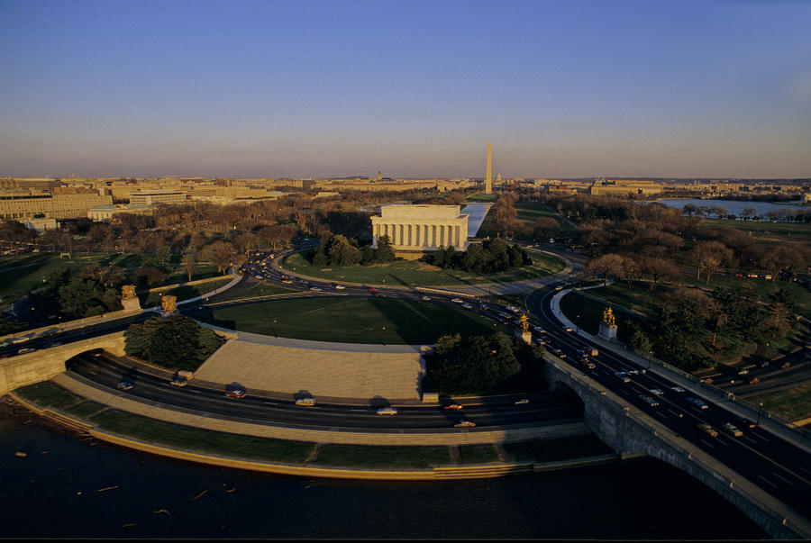 Aerial View Of Lincoln Memorial Photograph  - Aerial View Of Lincoln Memorial Fine Art Print