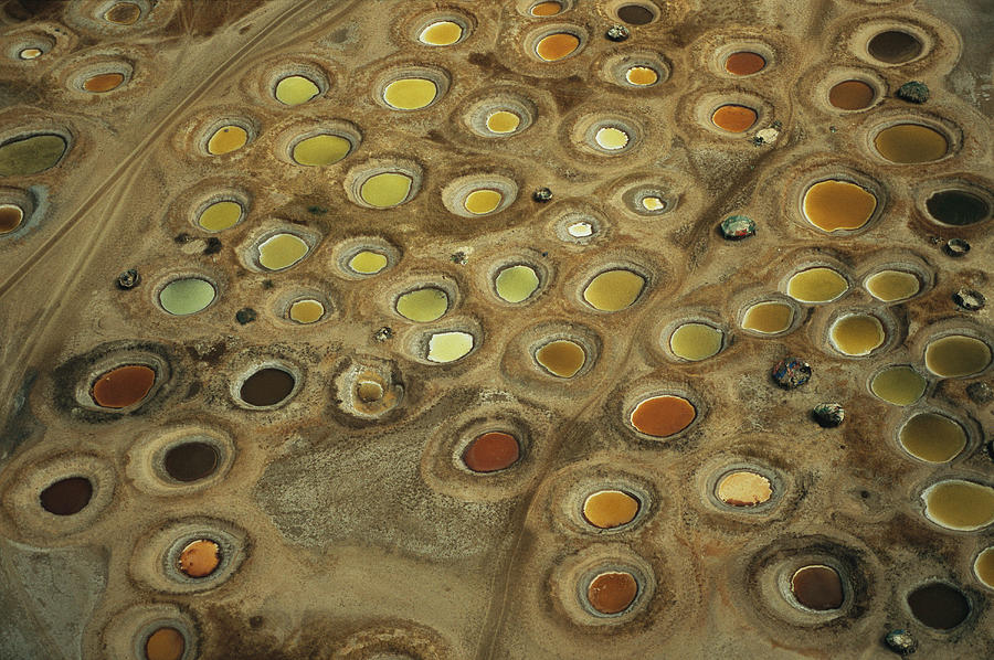 Scenes And Views Photograph - Aerial View Of Multi-colored Dyeing by Bobby Haas