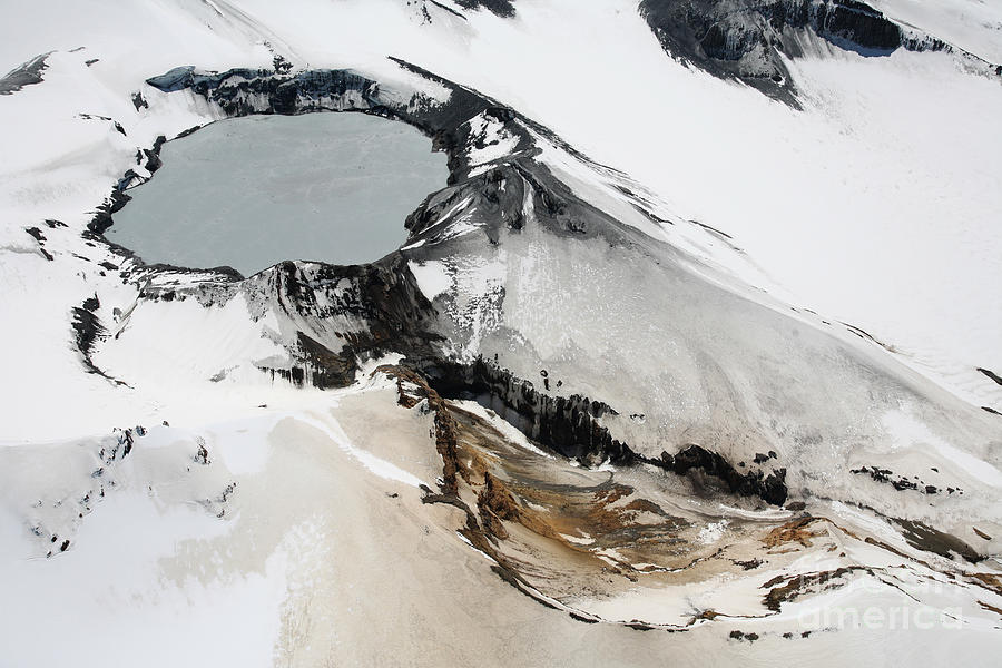 Aerial View Of Snow-covered Ruapehu Photograph