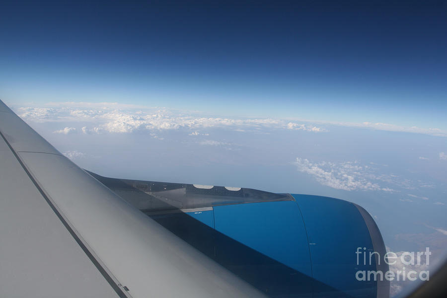 Blue Photograph - Aeroplane by David Wenman