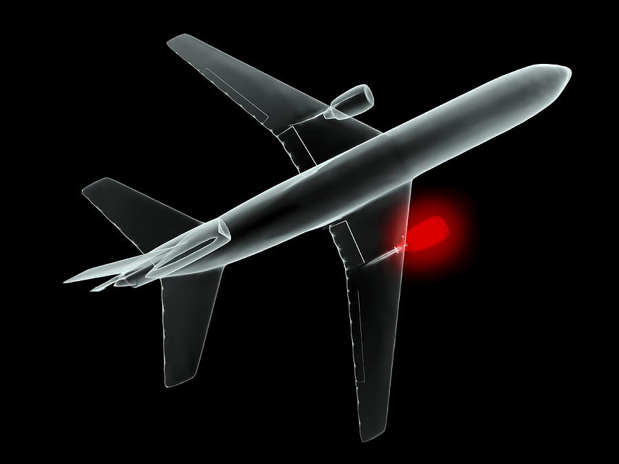 Aeroplane, Simulated X-ray Artwork Photograph