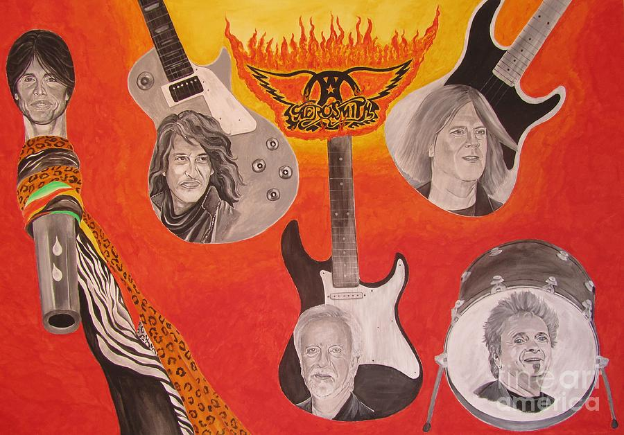 Aerosmith Painting Painting  - Aerosmith Painting Fine Art Print