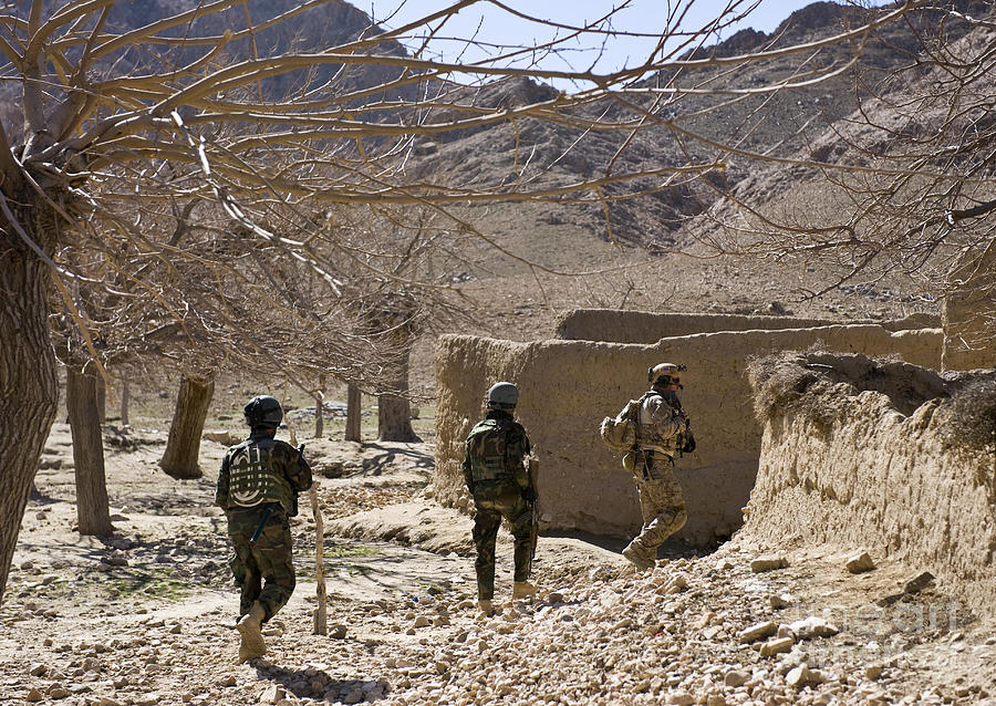 Afghan Commandos Are Guided Photograph  - Afghan Commandos Are Guided Fine Art Print