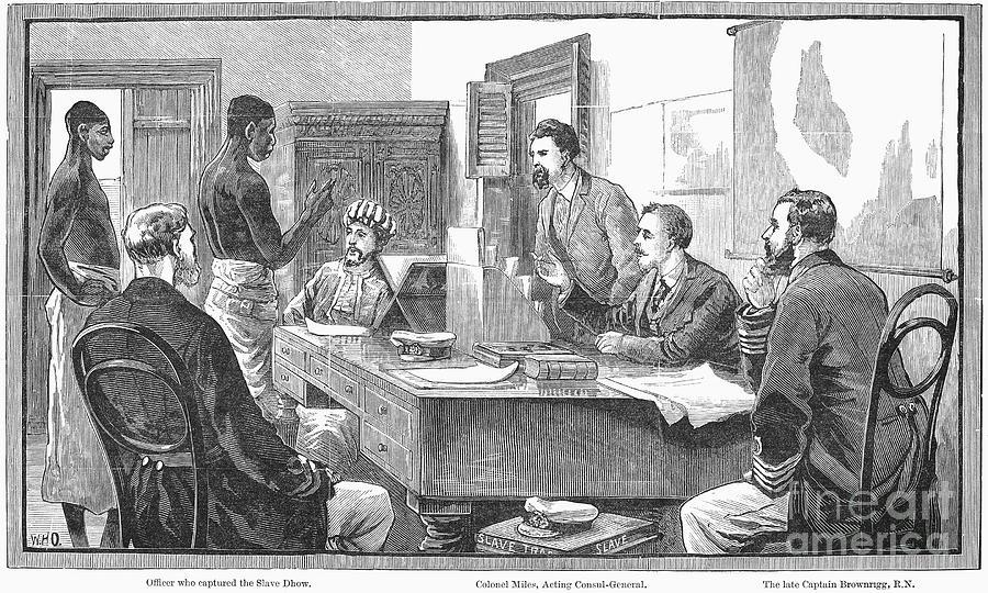 Africa: Slave Trade, 1881 Photograph