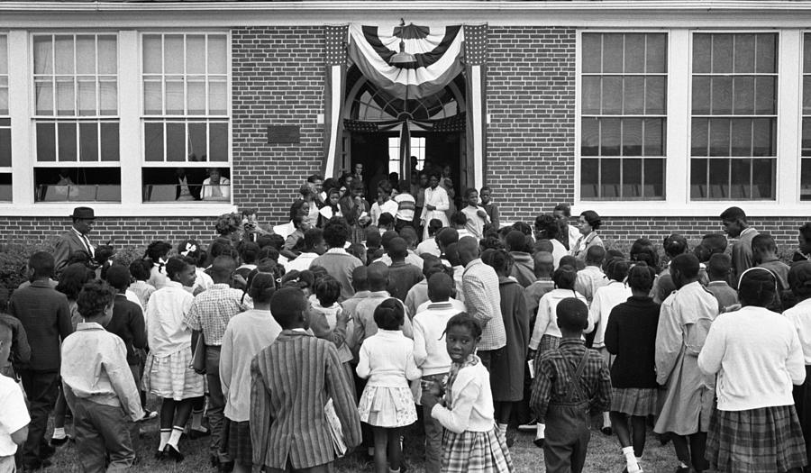 African American Children Entering Photograph