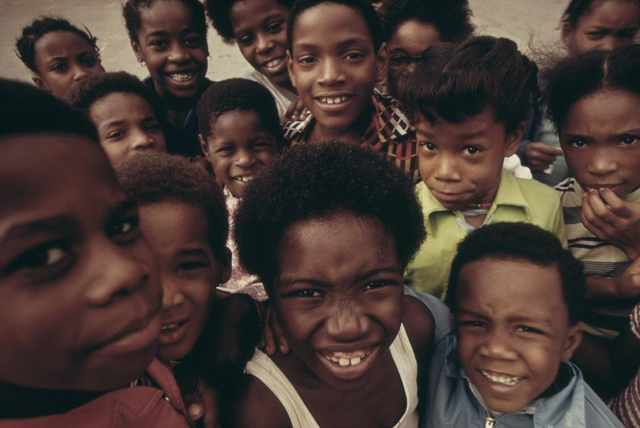 African American Children On The Street Photograph