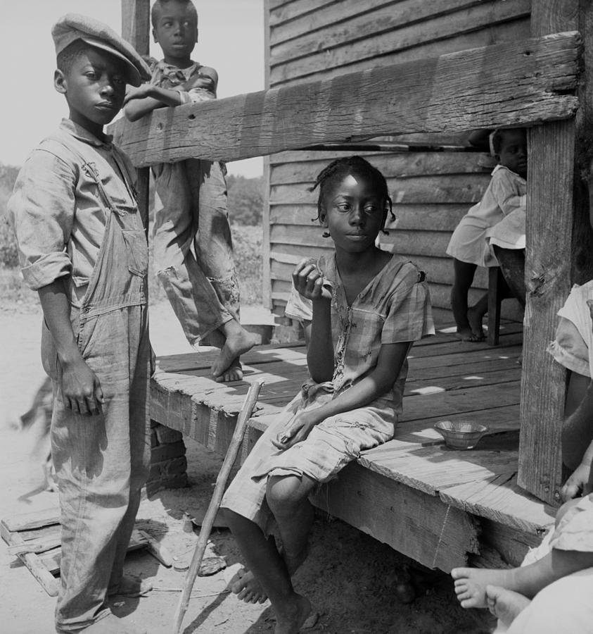 History Photograph - African American Farm Children by Everett