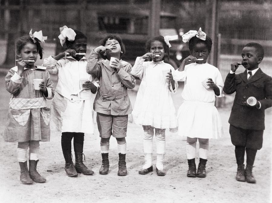 African American First Graders Learn Photograph