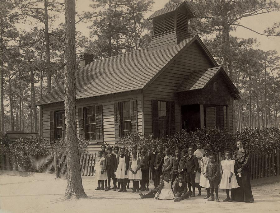 African American School Children Posed Photograph