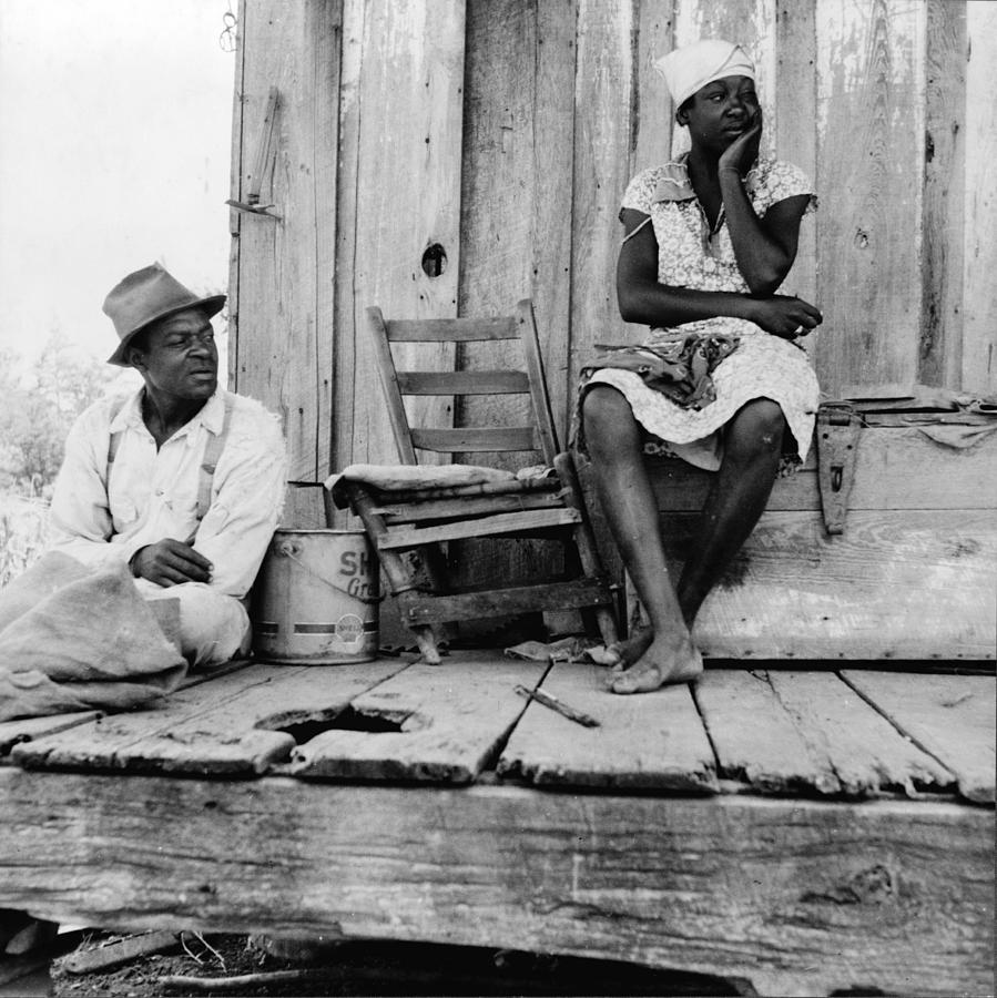 African American Sharecroppers, Titled Photograph