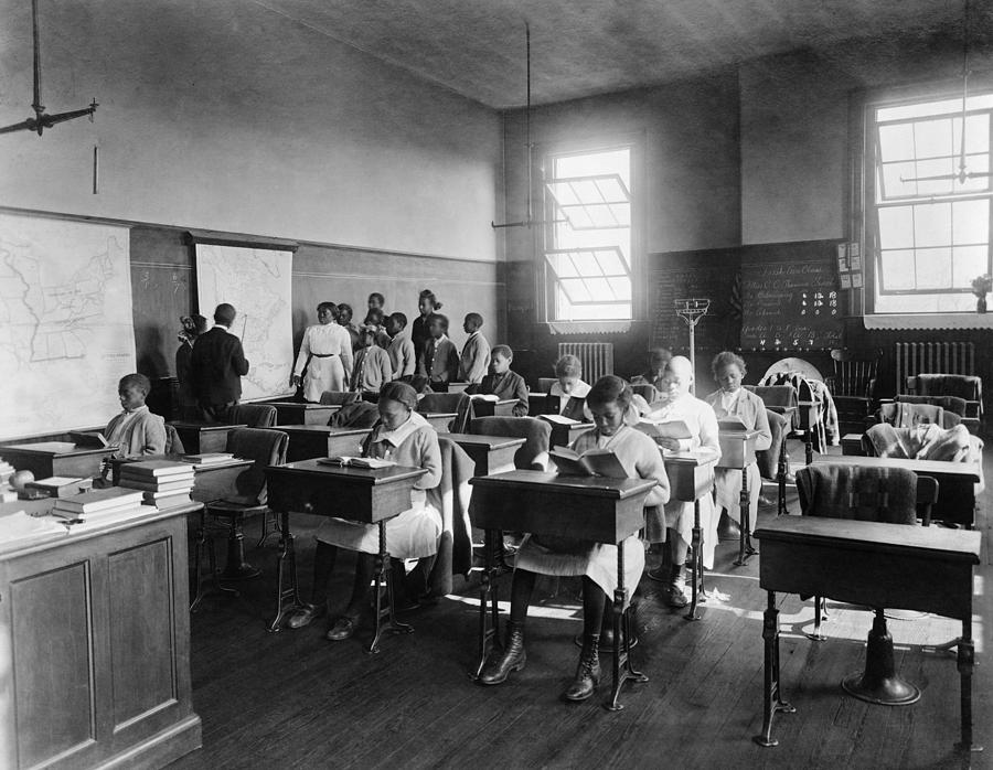 African American Students In Geography Photograph