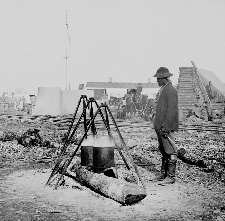 History Photograph - African American Union Army Cook by Everett