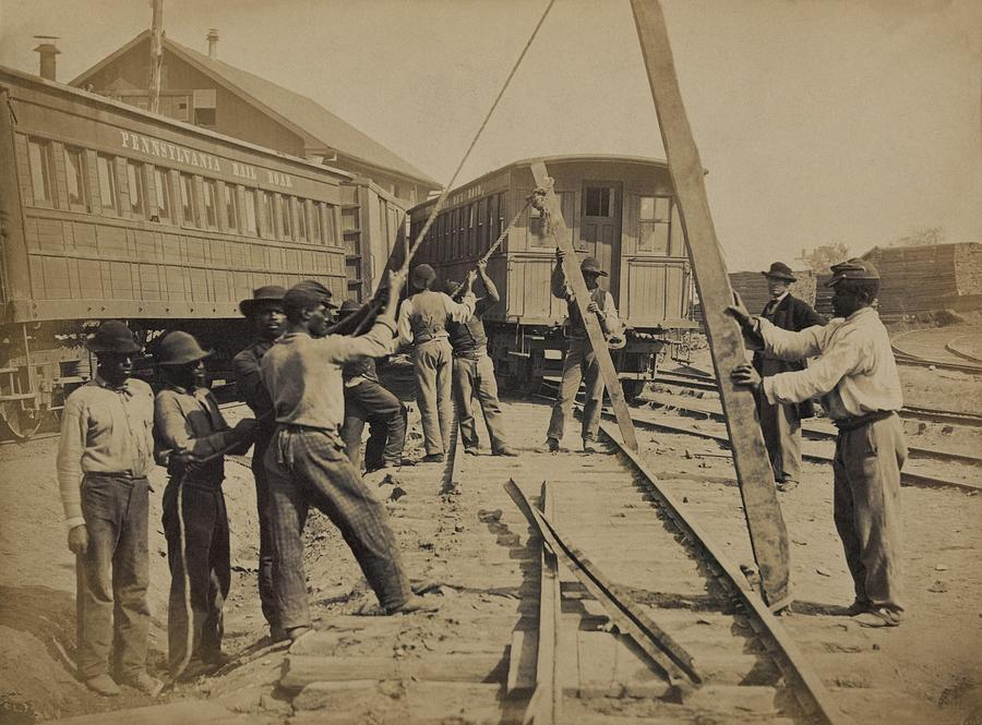 African American Work Crew In Northern Photograph  - African American Work Crew In Northern Fine Art Print