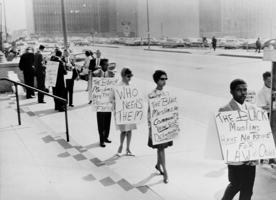 African Americans Protesting Black Photograph